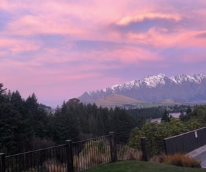 clouds, mountains, and new zealand image