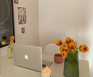 apartment, computer, and nature image
