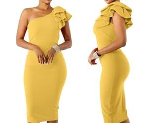 evening dress, fashion, and girl dress image