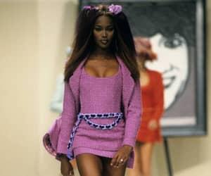 Naomi Campbell, runway, and model image