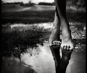feet, black and white, and photography image