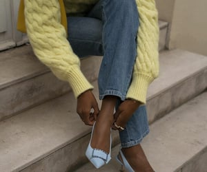 blue heels, cool, and fashion image