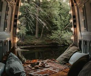 camping, travel, and lake image