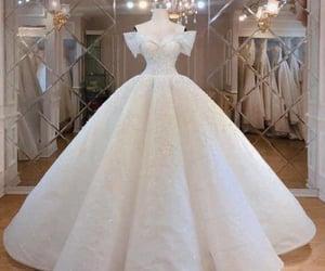 white, dress, and wedding dress image