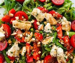 fish, food, and summer salad image