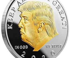 coin, hunting, and trump image