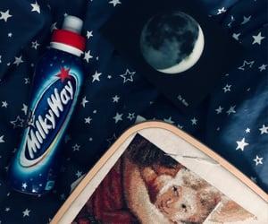 cross stitch, moon, and night image