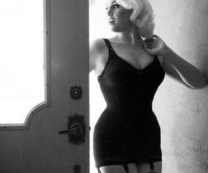 blonde, curves, and curvy image
