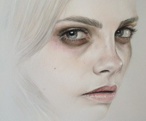 art, model, and cara delevingne image