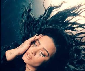 black hair, demi, and demi lovato image