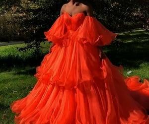 fashion, dress, and orange image