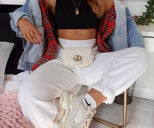 channel, plaid, and purse image