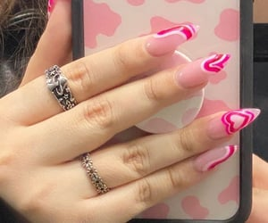 cow, nails, and pink nails image