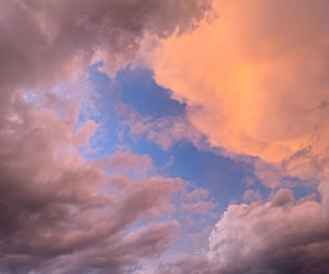 clouds, colours, and cotton candy image