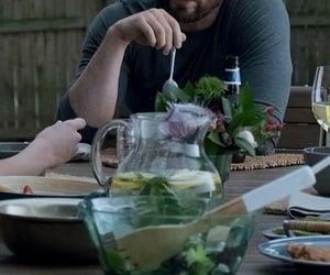 chris evans, dinner, and lettuce image