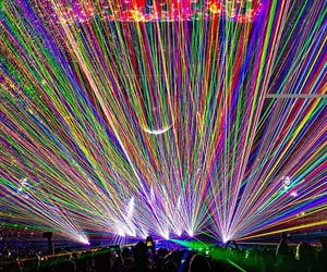 colours, concert, and lasers image