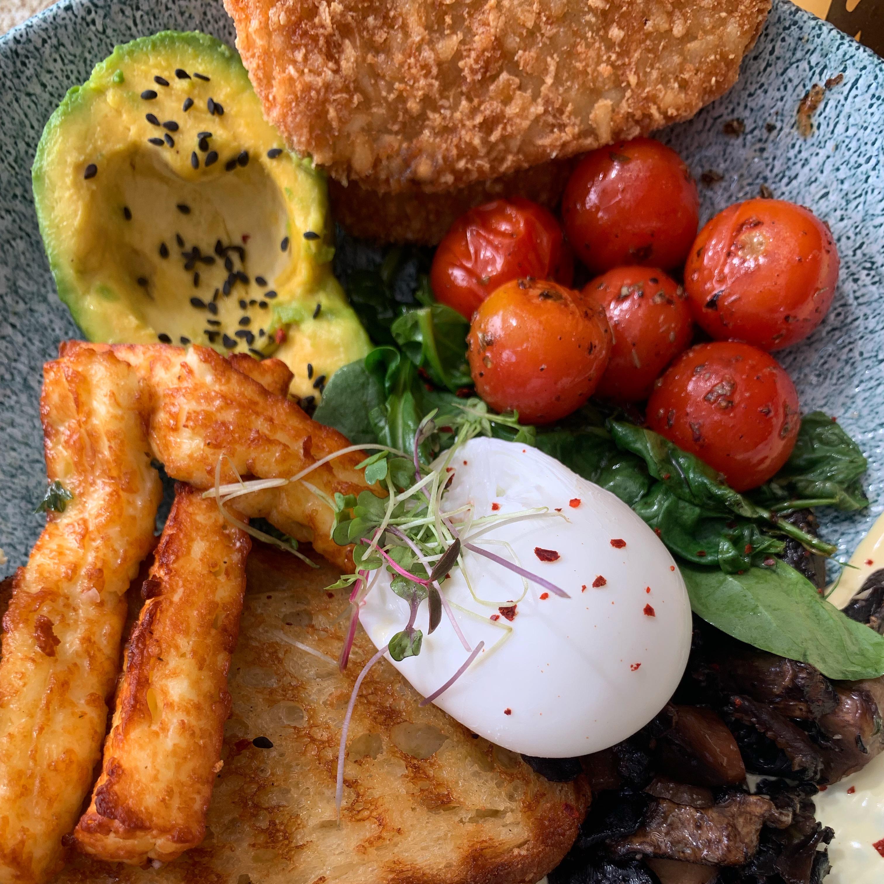 article, breakfast, and mushrooms image