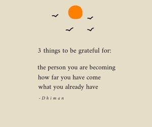 3 things to be grateful for: