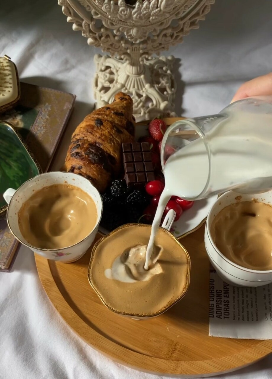 aesthetic, coffee, and foodie image
