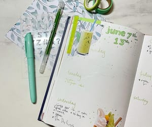 bubble tea, journal, and journalling image