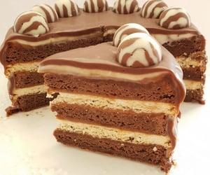 cake, chocolate, and sweet image