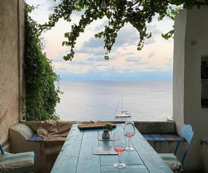 italy, sea, and wine image