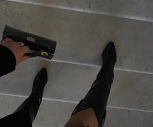 boots, girl, and outfit image