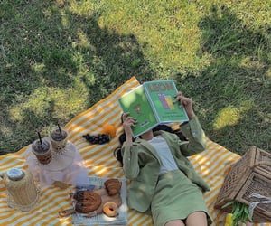 green, picnic, and aesthetic image