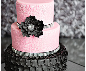 cake, black, and pink image
