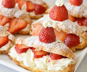 pastry and strawberries image