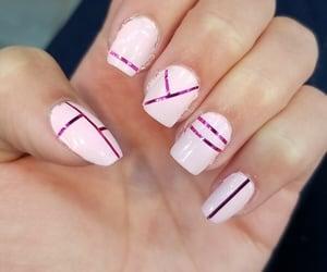 bright pink, neon pink, and polish image