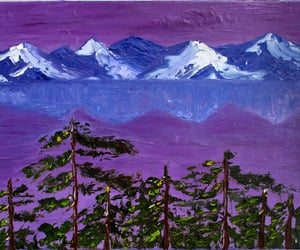 home decor, california landscape, and palette knife art image
