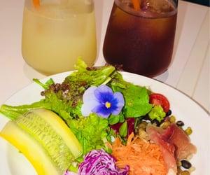 lunch, cold tea, and mozzarella image