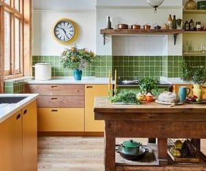 interior, kitchen, and light image