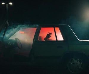 drive, fog, and night image