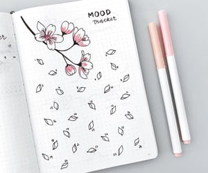 bujo, mood tracker, and bullet journal image
