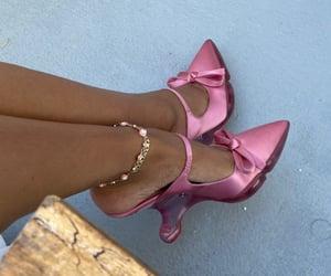 evil eye, heels, and pink image