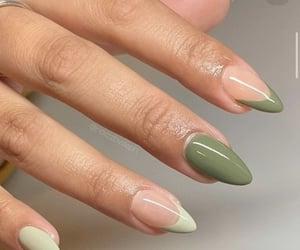 green, nail, and nails image
