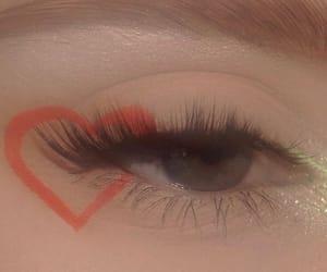 makeup, heart, and eye makeup image