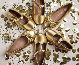 ballet flats, shimmer, and girls image