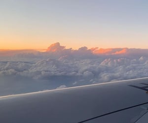 aesthetic, clouds, and plane image