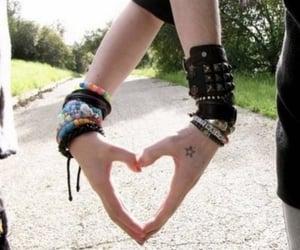 love, heart, and bracelets image