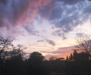 cloudy, cotton candy, and sunset image