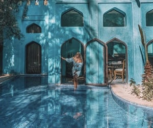 architecture, morocco, and blue image