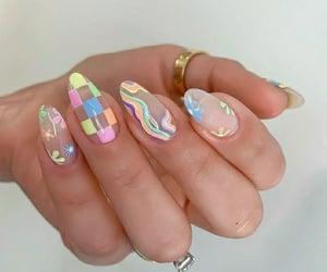 nail polish, gel nails, and colors image