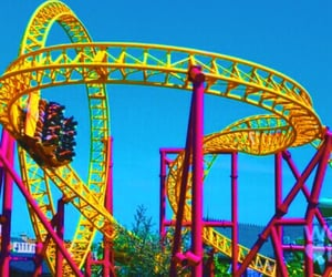 carefree, rollercoasters, and rainbow image