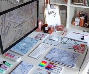 books, college, and organize image