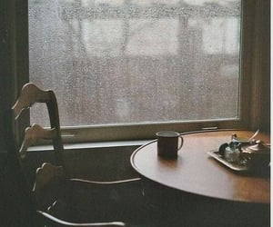 rain, coffee, and window image