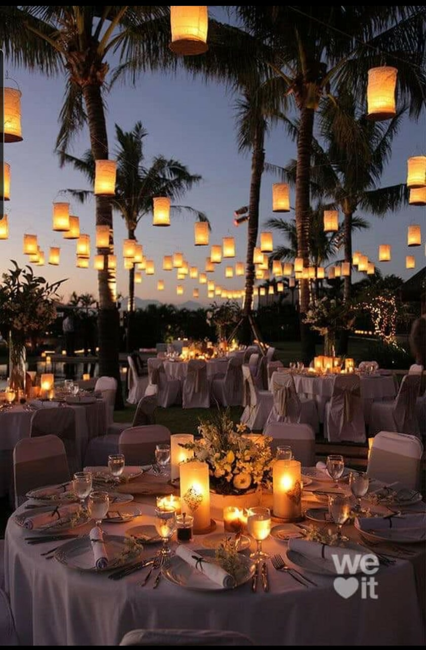 flowers, decor, and lights image