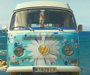 hippie, flowers, and vintage image
